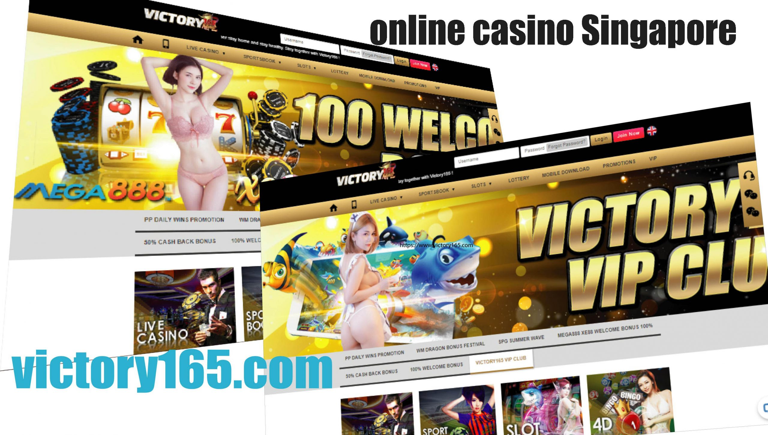 Victory165 Singapore Online Casino Review